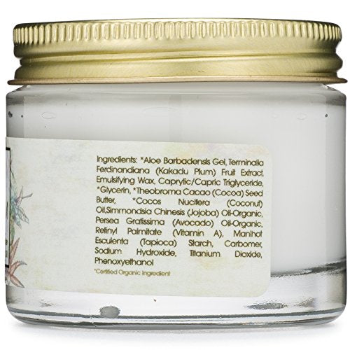 Revitalizing Natural Anti Aging Moisturizer With Kakadu Plum, Jojoba Oil, Avocado Oil, Vitamin E for Dry Skin
