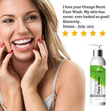 PrimaGlow Orange Burst Face Wash, an Anti-Aging Facial Cleanser a Different, Yet Effective Natural Skin Care for Women, Men and Kids. 6 ounce: Beauty