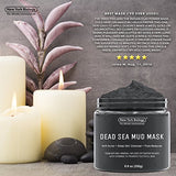 Dead Sea Mud Mask for Face & Body - 100% Natural Spa Quality - Best Pore Reducer & Minimizer to Help Treat Acne, Blackheads & Oily Skin - Tightens Skin for a Visibly Healthier Complexion - 8.8 OZ : Beauty