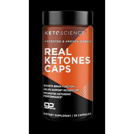 Keto Science Real Ketones Caps Dietary Supplement, 56 Capsules, 14 Servings