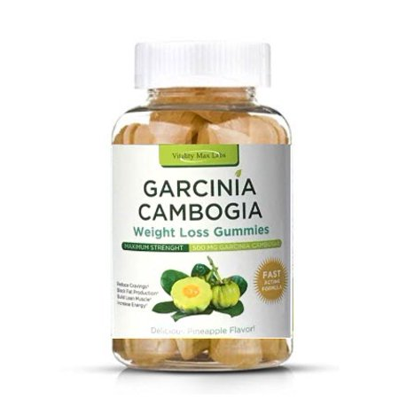 Vitality Max Labs Garcinia Weight Loss Gummies, Pineapple, 500mg, 50Ct