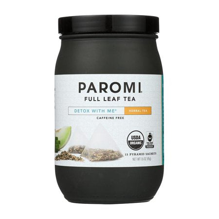 Paromi Tea, Detox with Me, Organic and Fair Trade Herbal Infusion, Full-Leaf, 15 Ct, 1.6 Oz