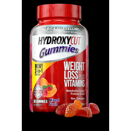 Hydroxycut Diet Supplement, Mixed Fruit Gummies, 90 Ct