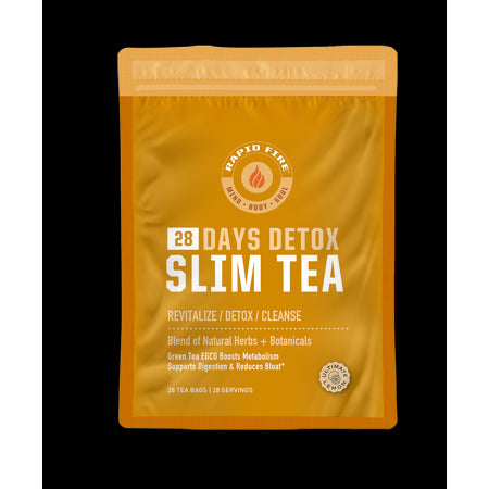 Rapid Fire SlimTea 28-Day Herbal Detox Tea, 28 Count