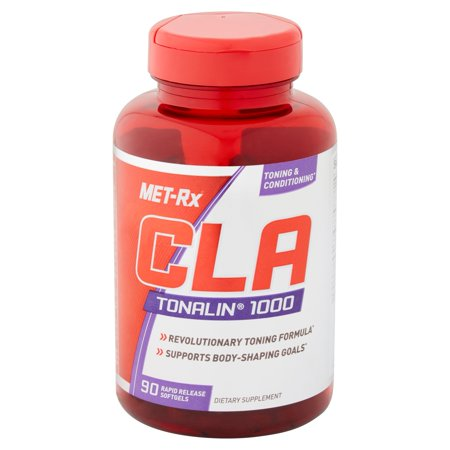 MET-Rx CLA Tonalin 1000 Metabolism Booster, Body Shaping Weight Management Supplement, Softgels, 90 Ct