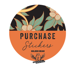 Golden Bean Stickers + Hi - Res Artwork