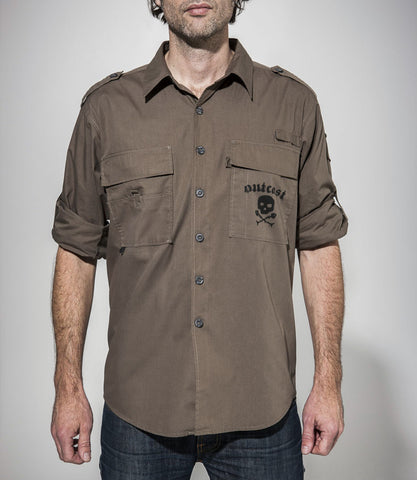 Outcast Fishing Shirt Dark Khaki SOLD OUT