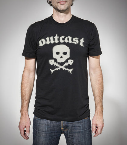Outcast Skull Logo Tshirt LIMITED STOCK - 4 LEFT