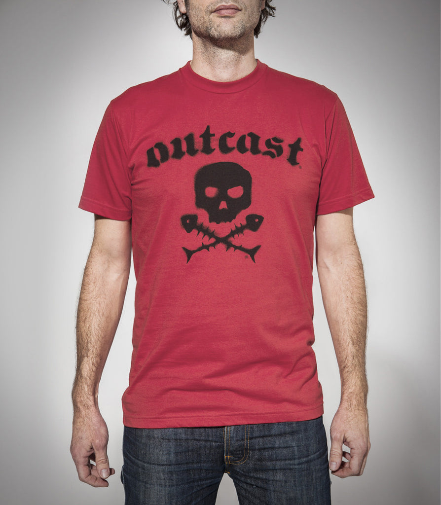 Outcast Skull Logo Tshirt LIMITED STOCK!