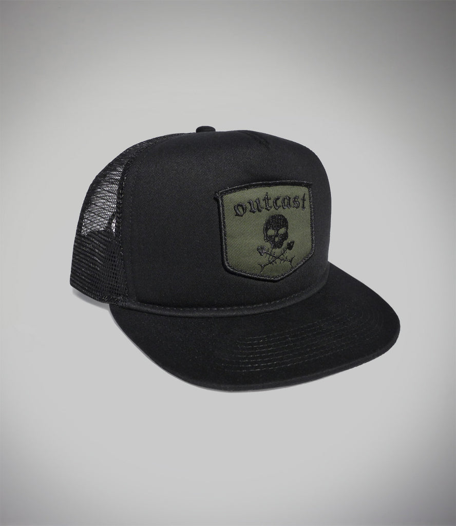 Outcast Flat Black Trucker SOLD OUT