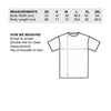 outcast come to daddy black t-shirt size chart