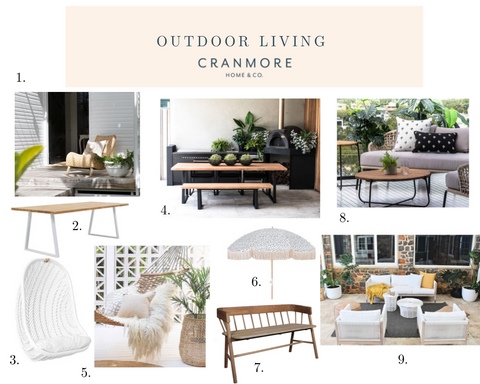 Outdoor Living Mood Board by Cranmore Home