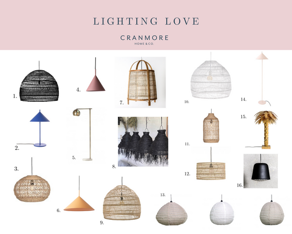 Moodboard for Lighting