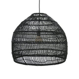 Wicker round pendant black