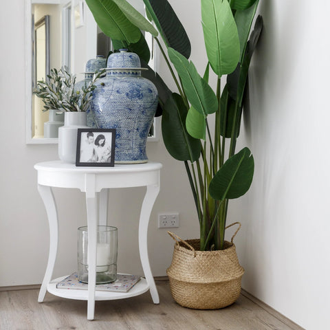 SIDE TABLE | Catherine Lamp | Round | White by Henry & Oliver Co