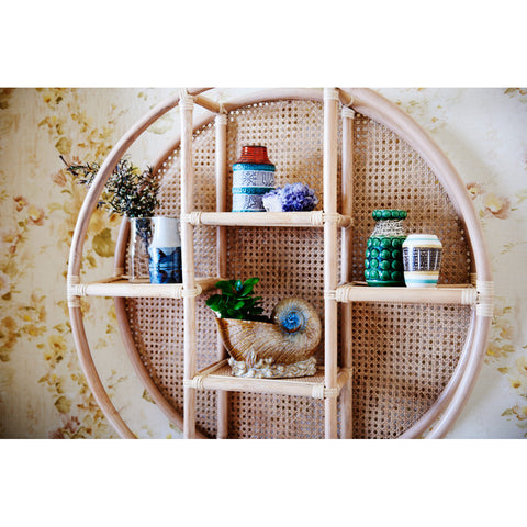 WALL SHELF | latitude in natural rattan by the family love tree