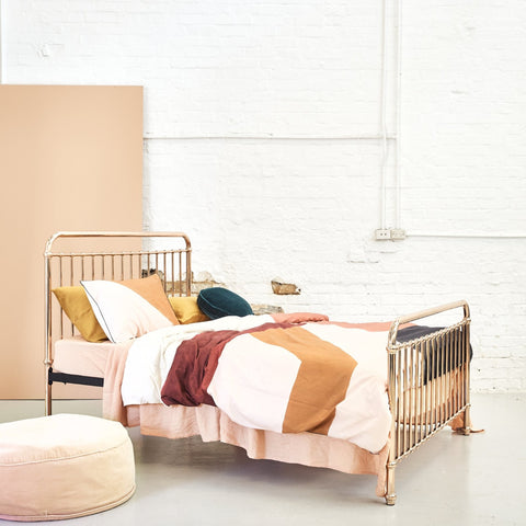 BED | rose gold eden by incy interiors
