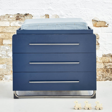 CHANGE TABLE | albie design navy/nickel by incy interiors