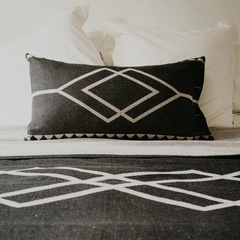 CUSHION | Dawn Ranger Oats/Black rectangle design by pony rider