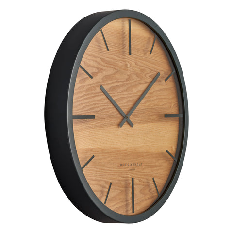 WALL CLOCK | Willow Charcoal by One Six Eight London