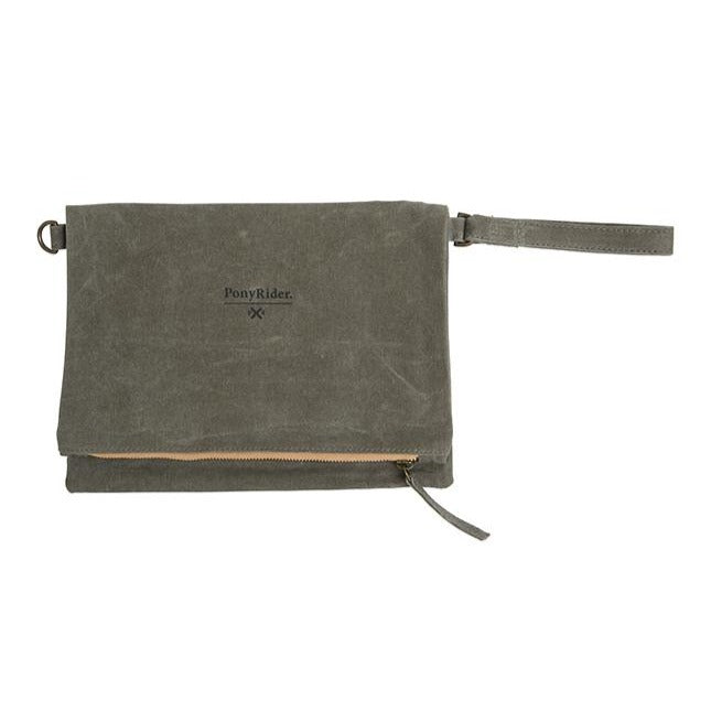 BAG | Market Clutch Olive by Pony Rider