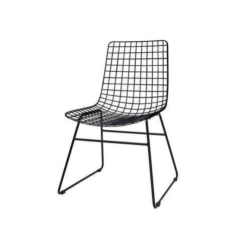 CHAIR | black wire dining chair by hk living