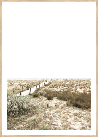 ART PRINT | Beach Path Portrait by Blackhaus Studios