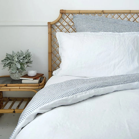 DUVET SET | marine stripes + milk linen by bedtonic