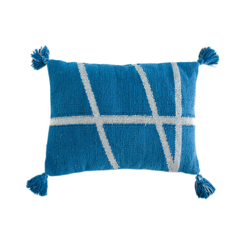 CUSHION | little bling in blue + silver by OHH