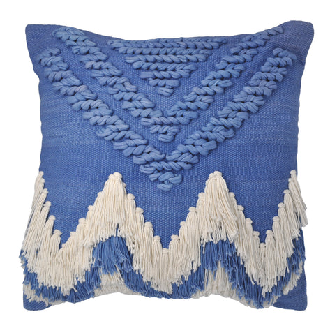 CUSHION | Bluebell Fringe Cushion by Langdon LTD