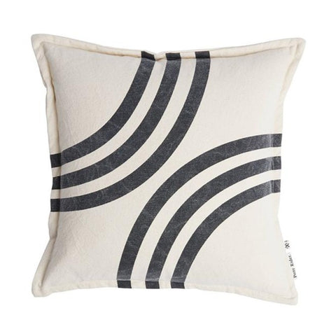 CUSHION | River Bends Dark Shadow Oats design by pony rider