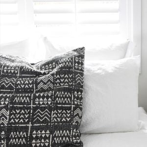 CUSHION | Mudcloth Tribal Charcoal by Collective Sol
