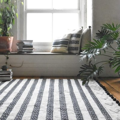 RUG | Matisse Tufted Rug Black Pom Pom By Collective Sol