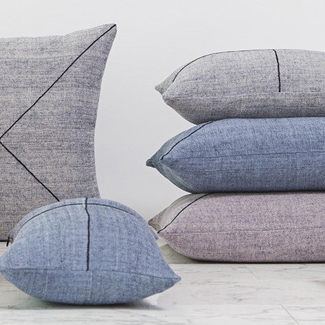 CUSHION | tri-weave khadi in denim by one another design