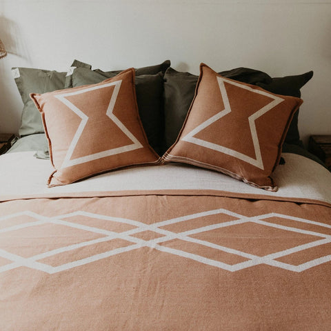 CUSHION | Canvas Sham Khaki design by pony rider