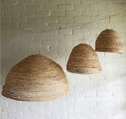PENDANT | Handmade Cylinder Shade by The Paper Mills Studio