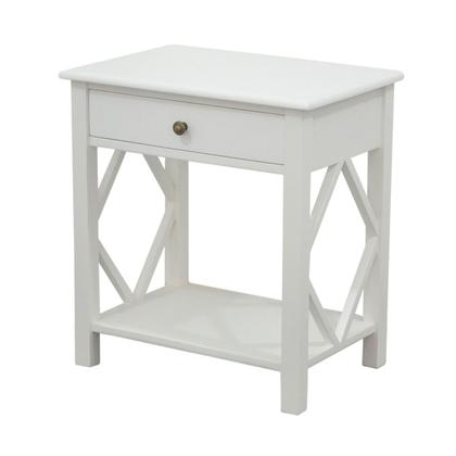 SIDE TABLE | White | Small 1 drawer by Henry & Oliver Co