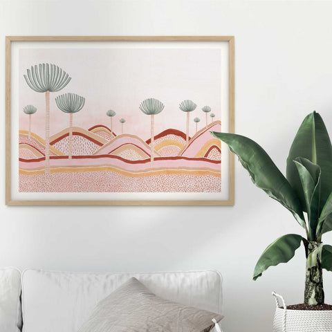 ART PRINT | Dusty Pink Dunes by Karina Jambrak