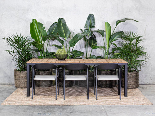 DINING TABLE (Outdoor) | Male Teak Top By Satara