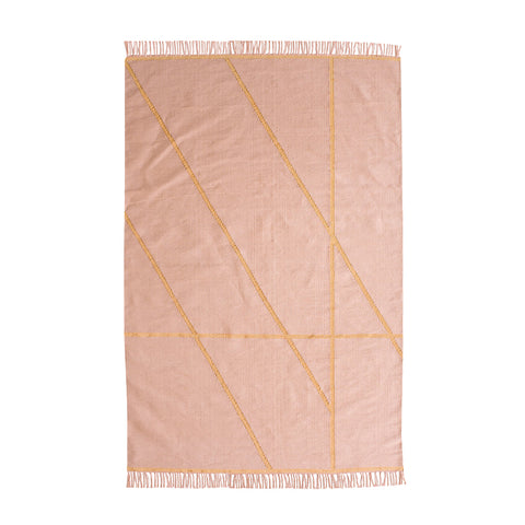 FLOOR RUG | little bling in pink + gold by OHH