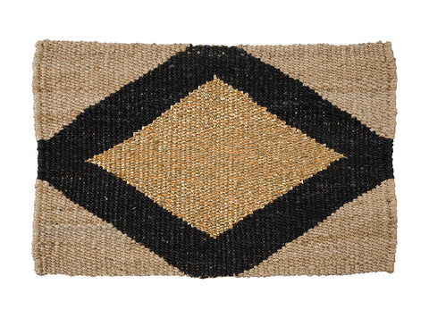 DOORMAT | Gem Design Gold/Black by Langdon Ltd