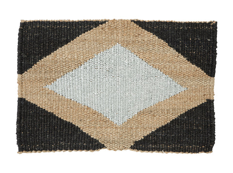 DOORMAT | Gem Design Silver, Black & Natural by Langdon Ltd
