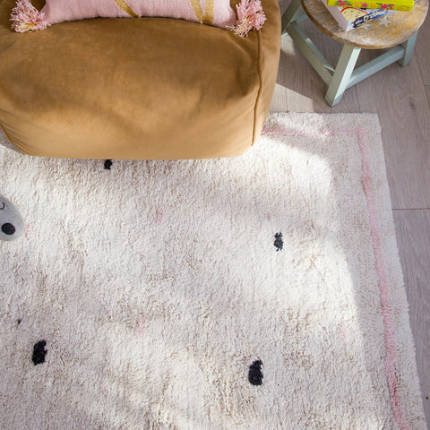 FLOOR RUG | Cotton Berber - Going Dotty Pink by OHH