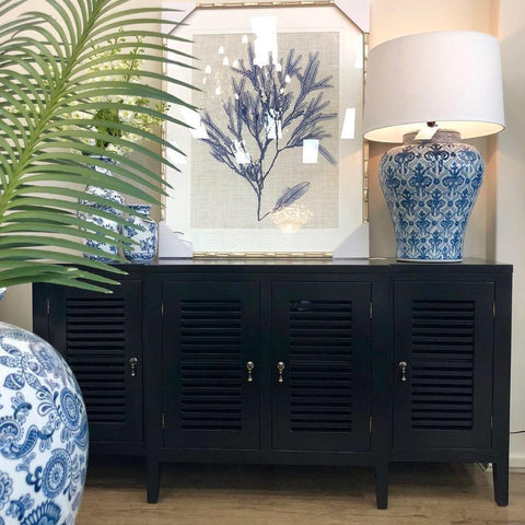 BUFFET | Greenwich | Black Louvered by Henry & Oliver Co