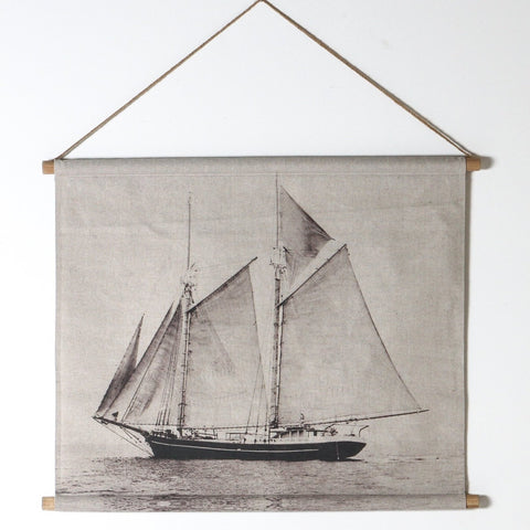 WALL CHART | Sail Boat Scroll by Indigo Love Collectors
