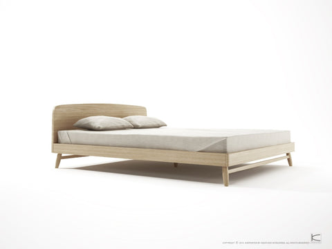 BED | Twist Queen and King in oak by SLH