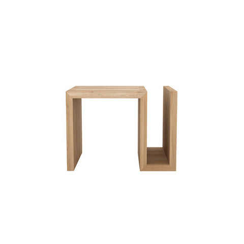 SIDE TABLE | kubus naomi in oak by ethnicraft