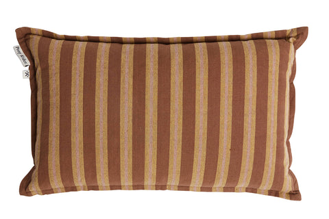 CUSHION | Lil Safari Stripe Rusty Desert design by pony rider
