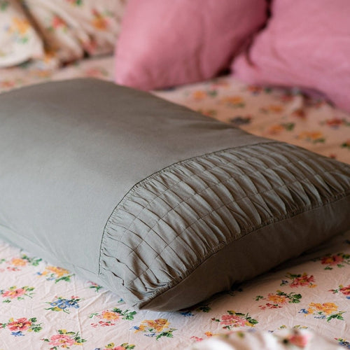 PILLOW CASE | Trellis Loden organic cotton by lazybones