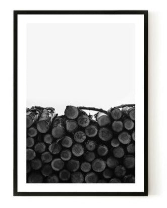 ART PRINT |  Log Stack by Blackhaus Studios